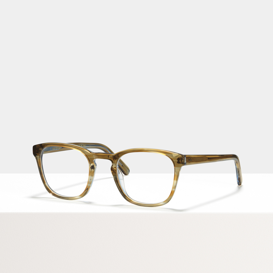 Ace & Tate Glasses | square acetate in Blue, Brown