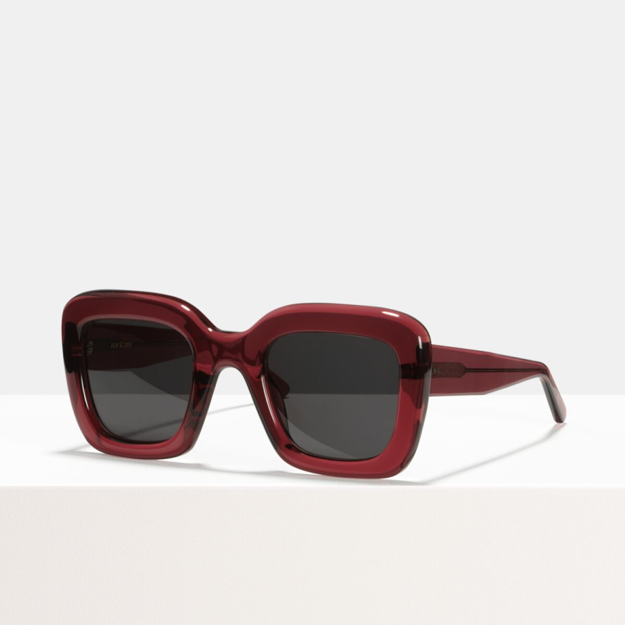 Ace & Tate Sunglasses | carrée acétate in Rouge