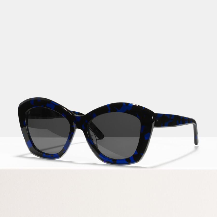 Ace & Tate Sunglasses | round acetate in Black, Blue