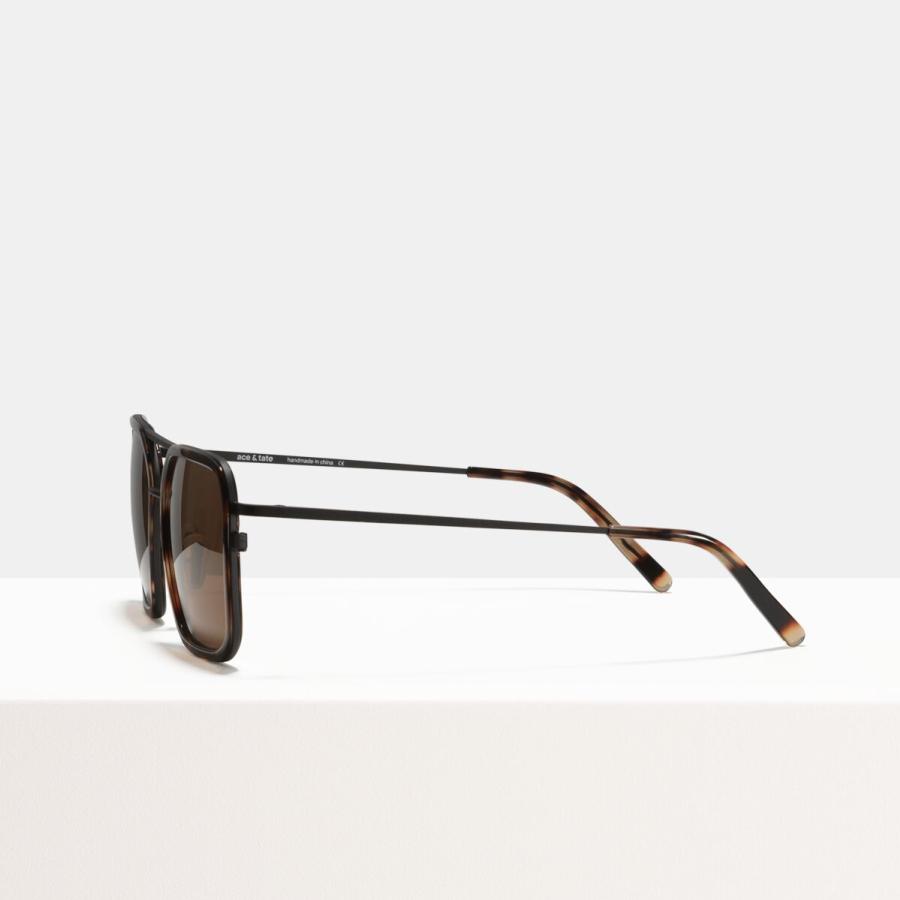 Ace & Tate Sunglasses   square combi in Black, Brown