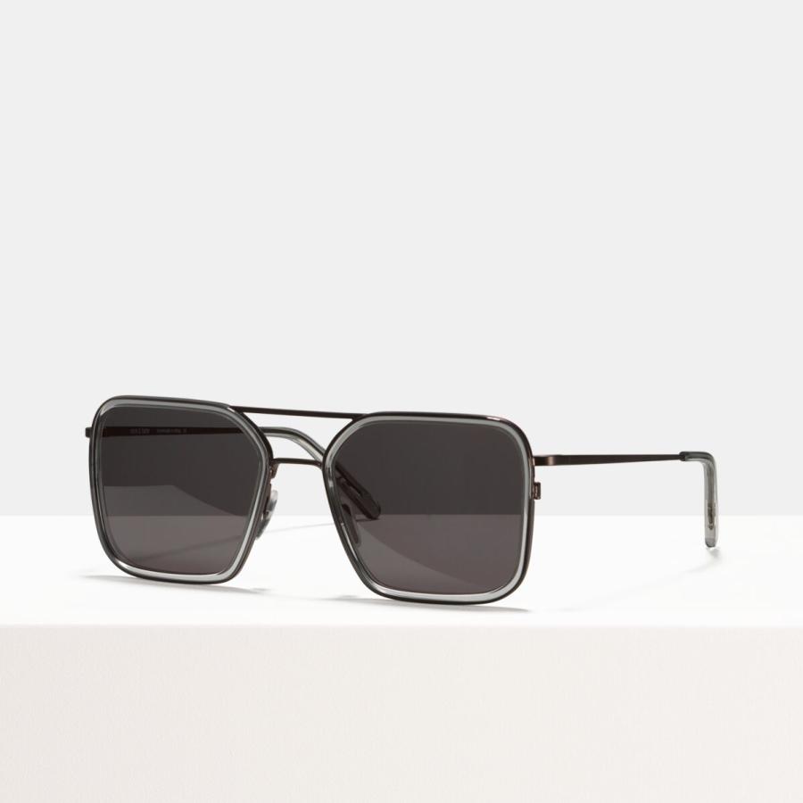 Ace & Tate Sunglasses | square acetate in Grey