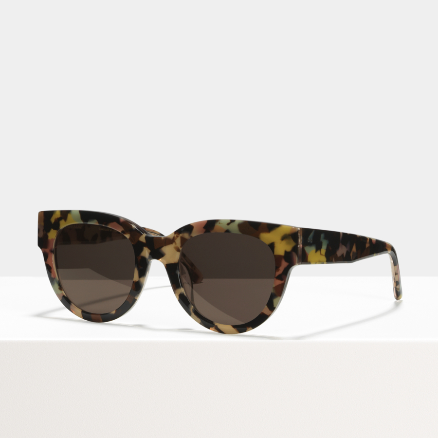 Ace & Tate Sunglasses | round acetate in Blue, Pink, White