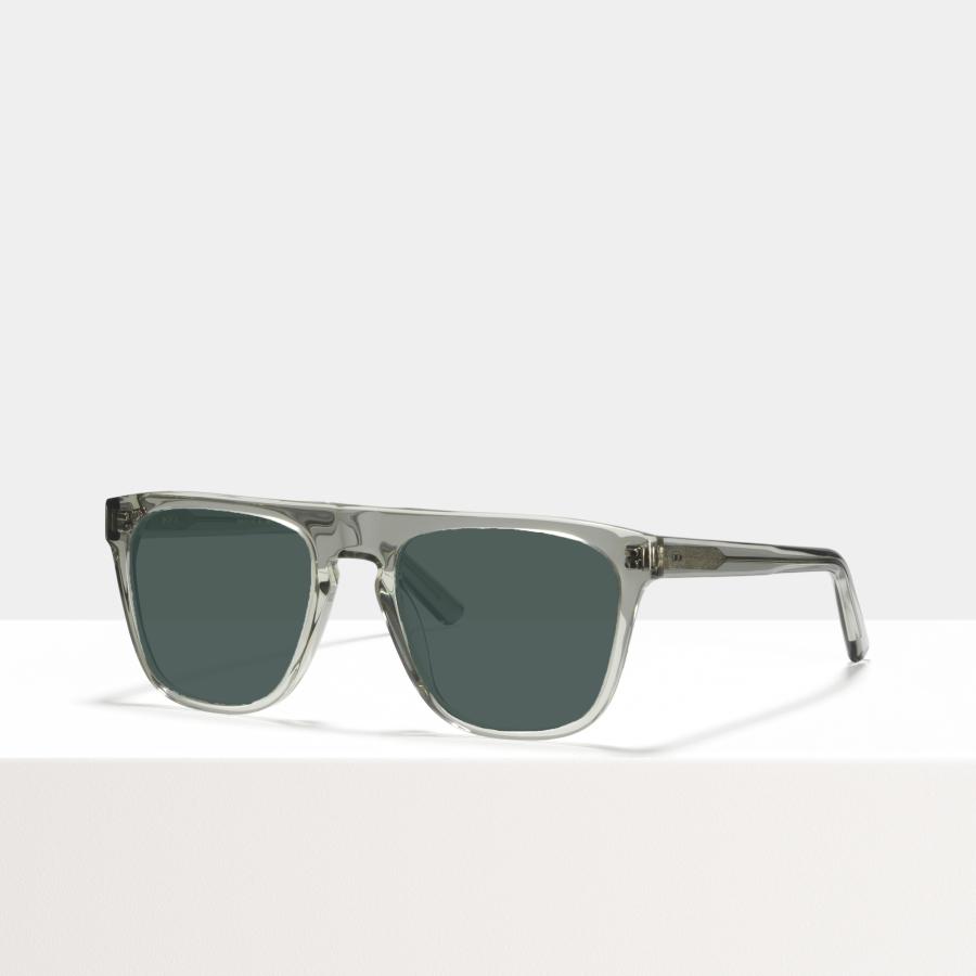 Ace & Tate Sunglasses | square acetate in Clear, Grey