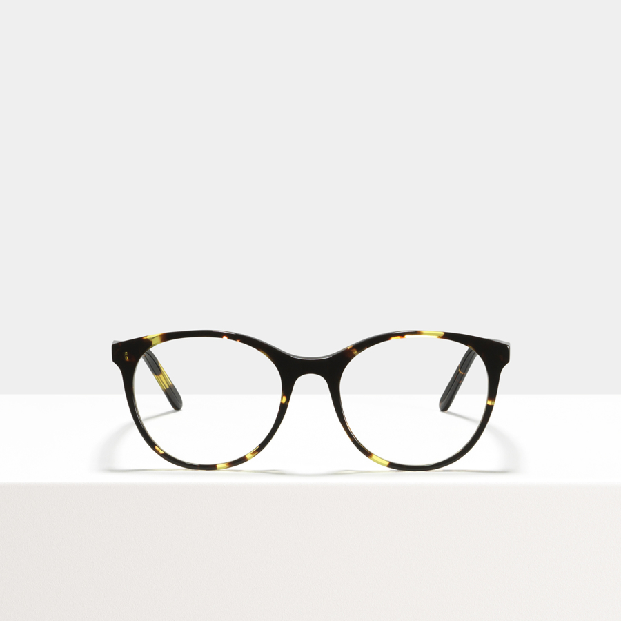 Ace & Tate Glasses | rund Acetat in Braun, Gelb