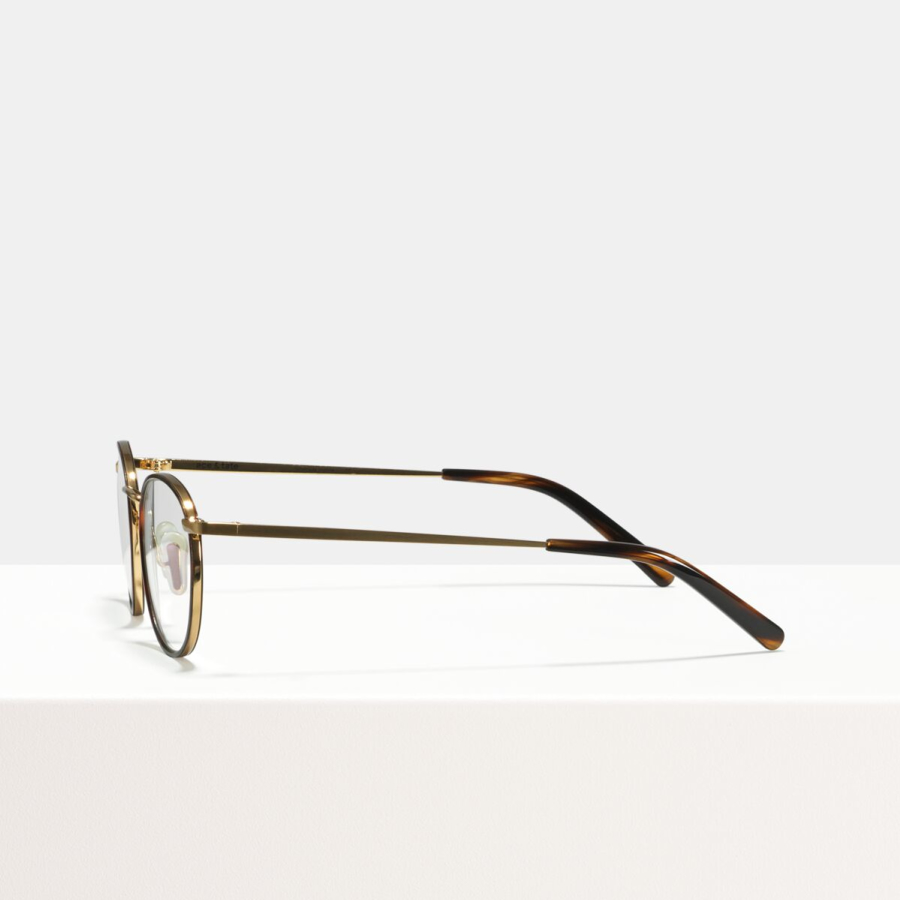 Ace & Tate Glasses | round metal in Beige, Black, Brown, Gold, tortoise, Yellow