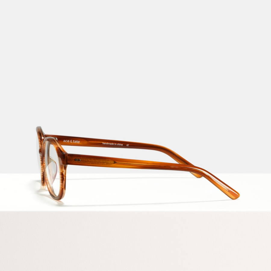 Ace & Tate Glasses | rectangle acetate in Brown, multicolor, Orange, Yellow