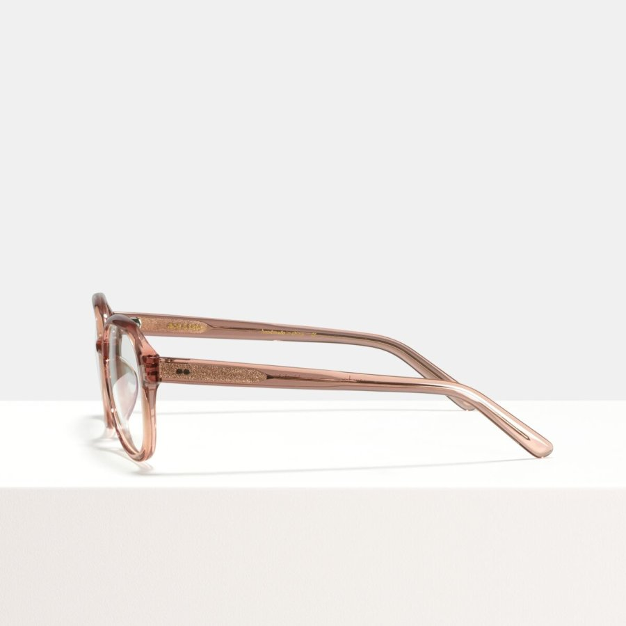 Ace & Tate Glasses | rectangulaire acétate in Clair, Rose
