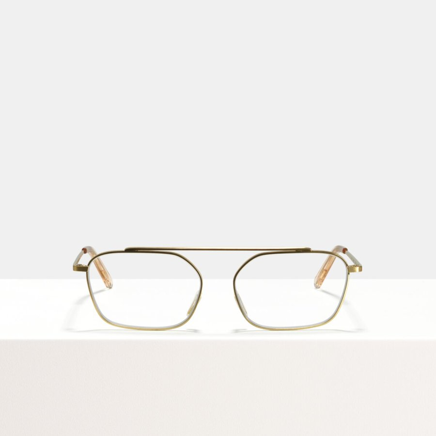 Ace & Tate Glasses | rectangle metal in Gold