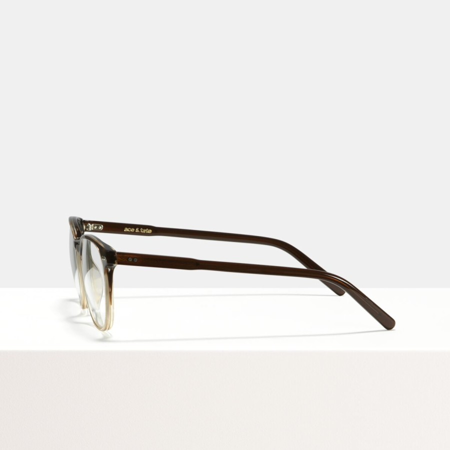 Ace & Tate Glasses | carrée acétate in Beige, Marron, Or, Gris