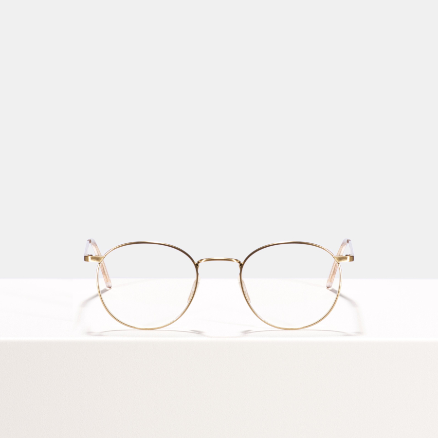 Ace & Tate Glasses | round metal in Gold