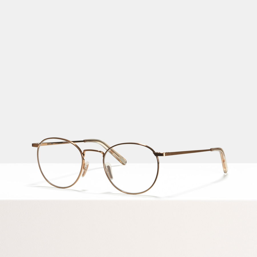 Ace & Tate Glasses | round metal in Pink