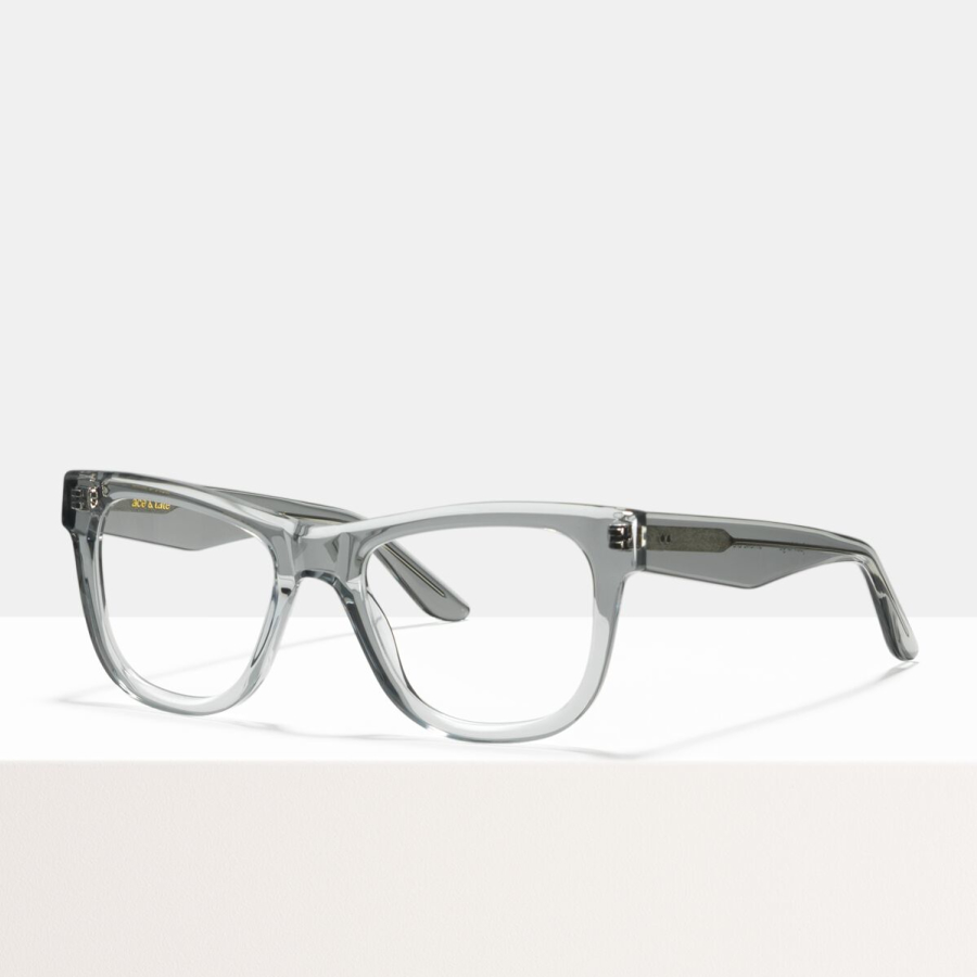 Ace & Tate Glasses | rectangle acetate in Grey