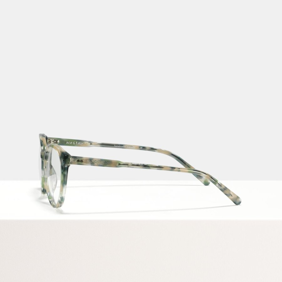 Ace & Tate Glasses | round acetate in Beige, Blue, Green, Grey