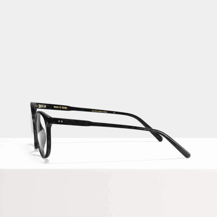 Ace & Tate Glasses | round recycled in Black