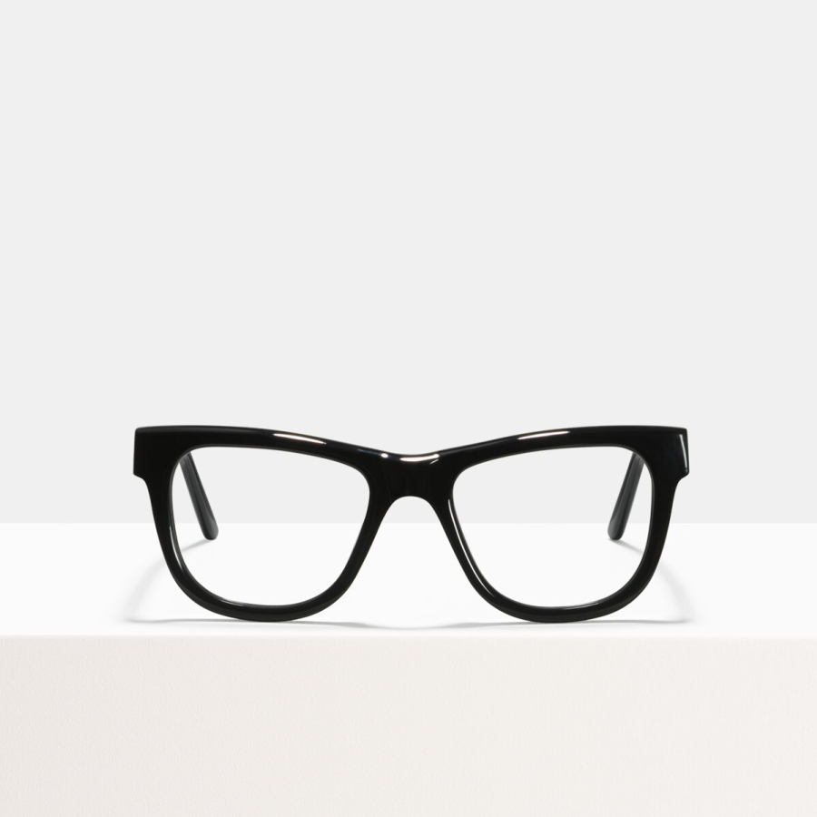 Ace & Tate Glasses | rectangle acetate in Black