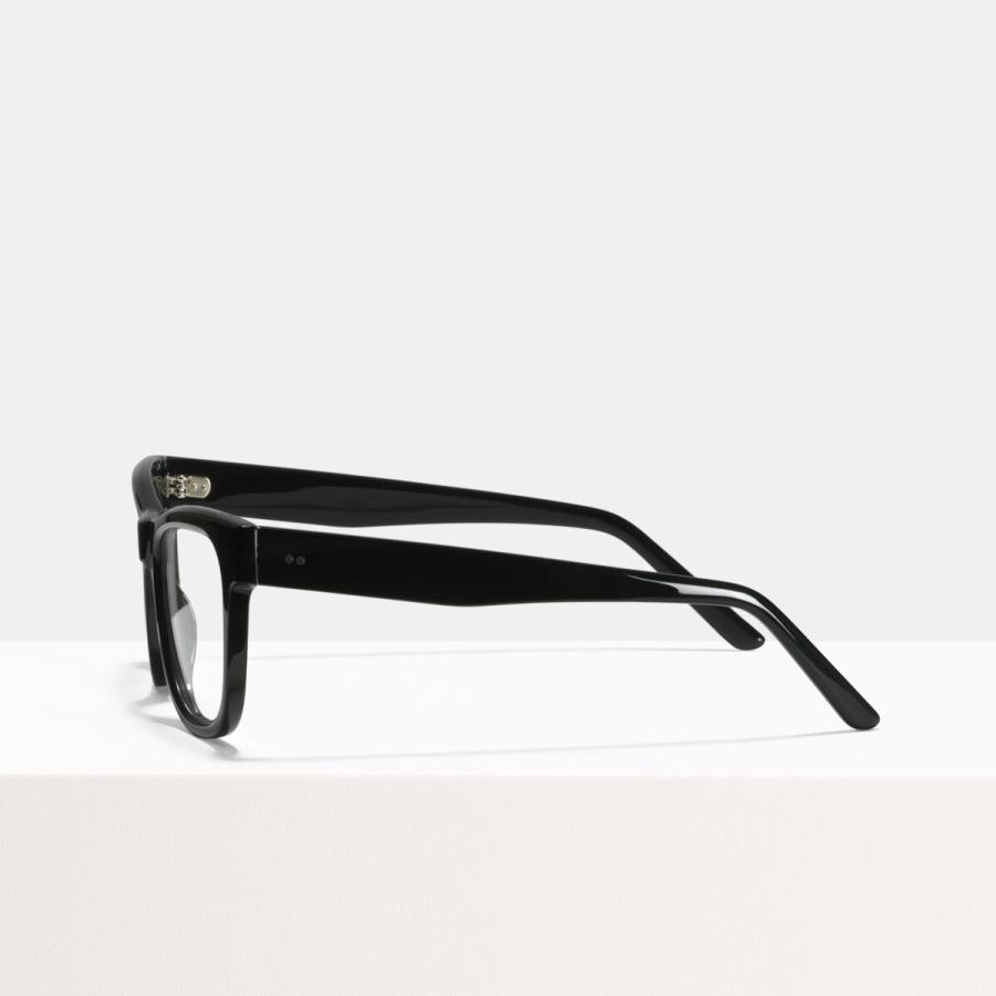 Ace & Tate Glasses | rectangulares acetato in Negro
