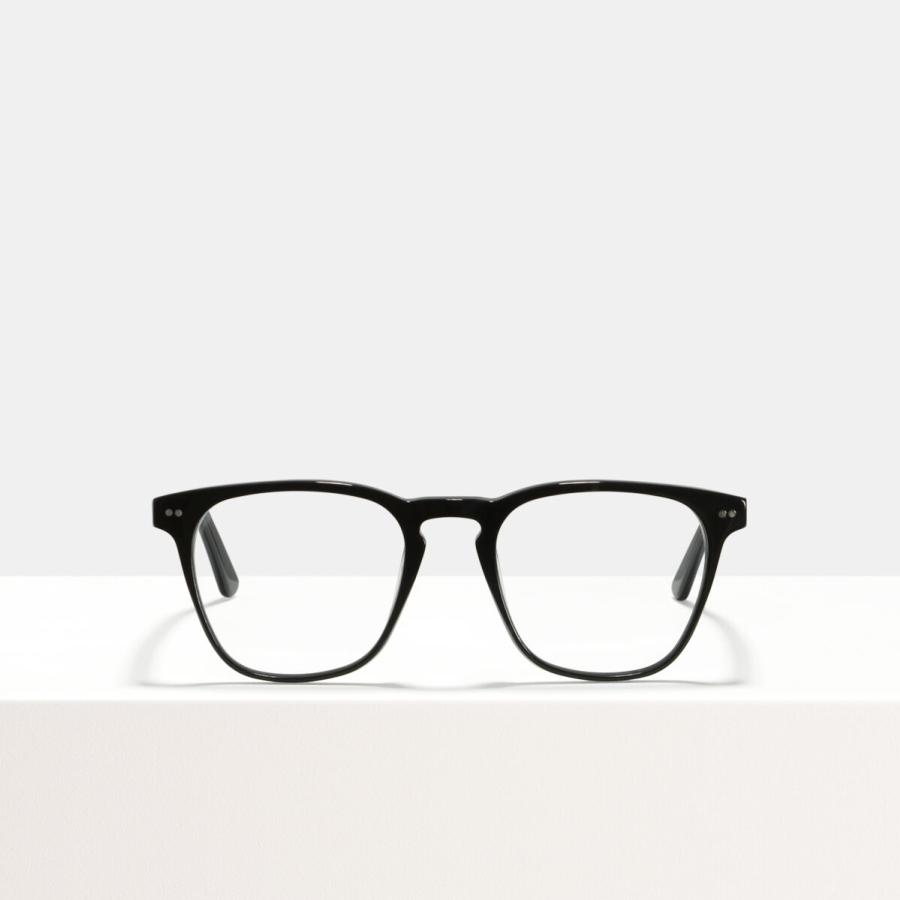 Ace & Tate Glasses | square acetate in Black