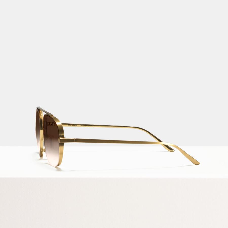 Ace & Tate Sunglasses | square titanium in Gold