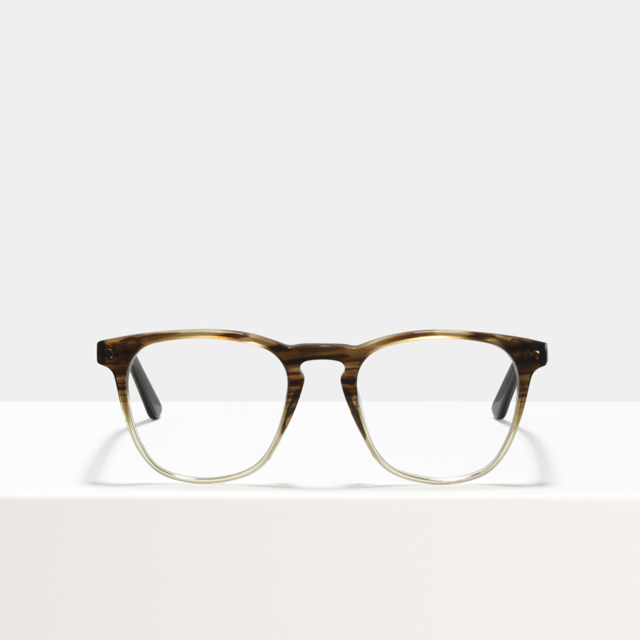 Ace & Tate Glasses | square acetate in Brown, Clear