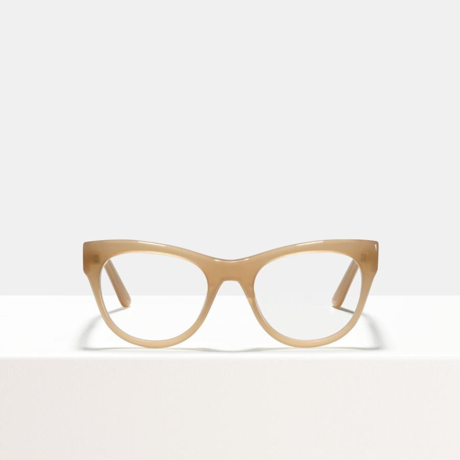 Ace & Tate Glasses | round acetate in Beige