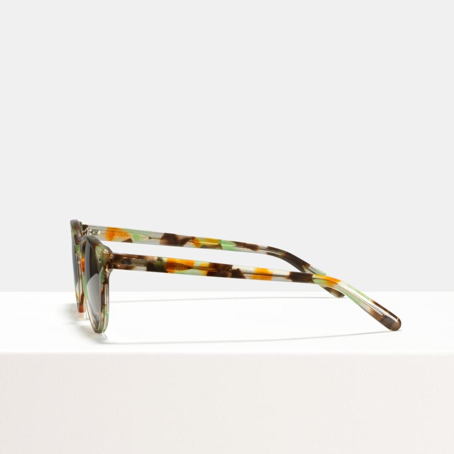 Ace & Tate Sunglasses | round acetate in Beige, Brown, Green, multicolor, Orange, Yellow