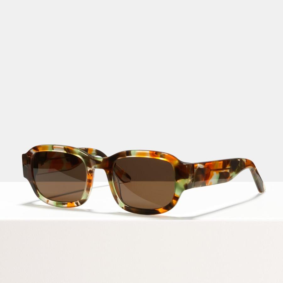 Ace & Tate Sunglasses | square acetate in Brown, Green, multicolor, Orange, Yellow