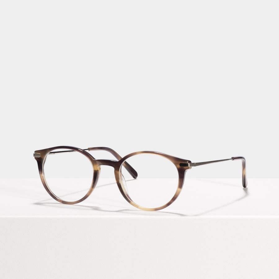 Ace & Tate Glasses | round acetate in Beige, Brown
