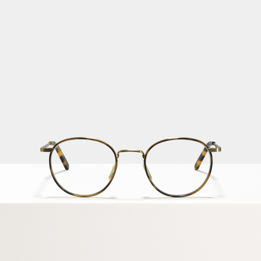 Ace & Tate Glasses | round acetate in Beige, Brown, Gold, multicolor, Yellow