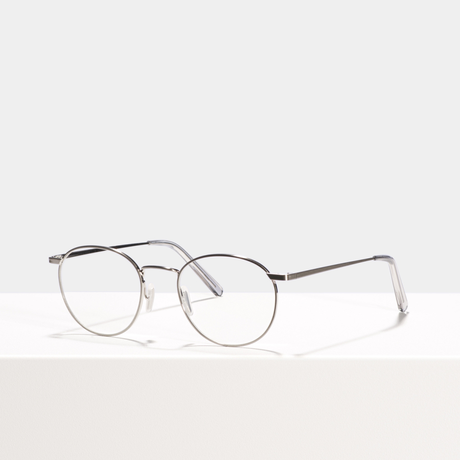 Ace & Tate Glasses | round titanium in Silver