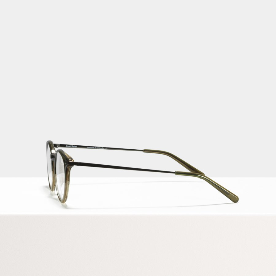 Ace & Tate Glasses | round acetate in Brown, Green