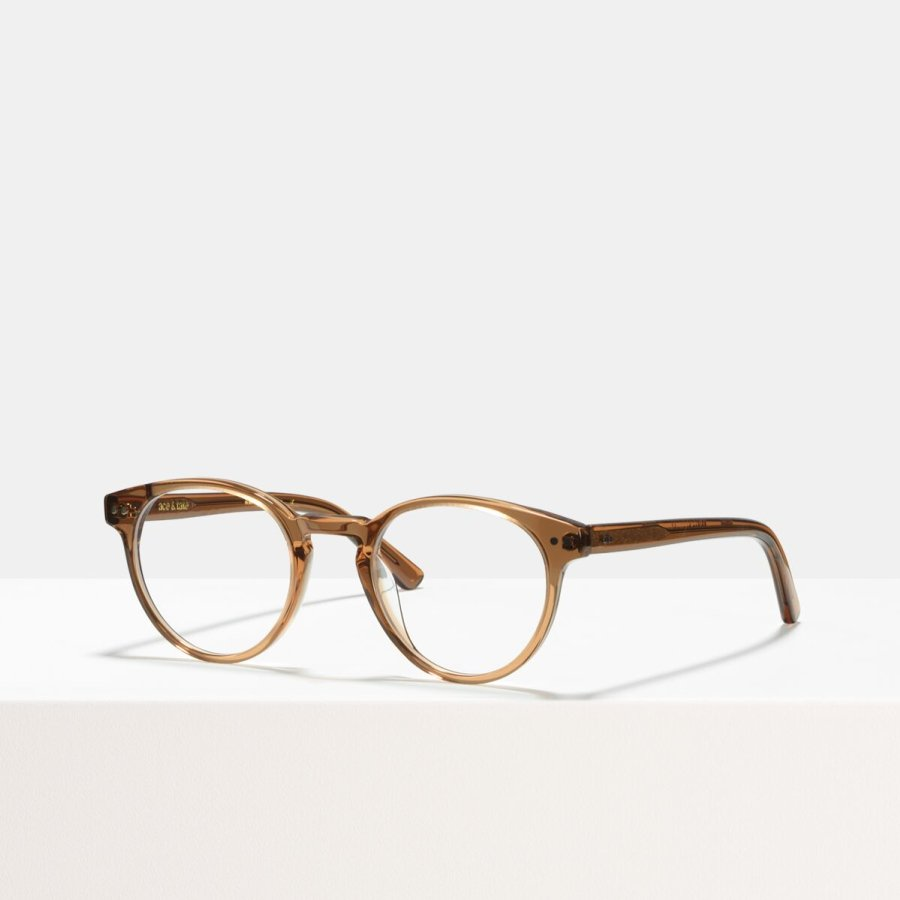 Ace & Tate Glasses | round acetate in Brown