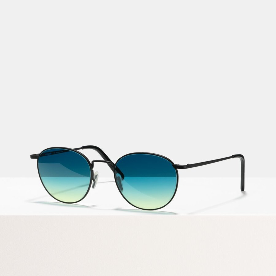 Ace & Tate Sunglasses | round metal in Blue, Yellow