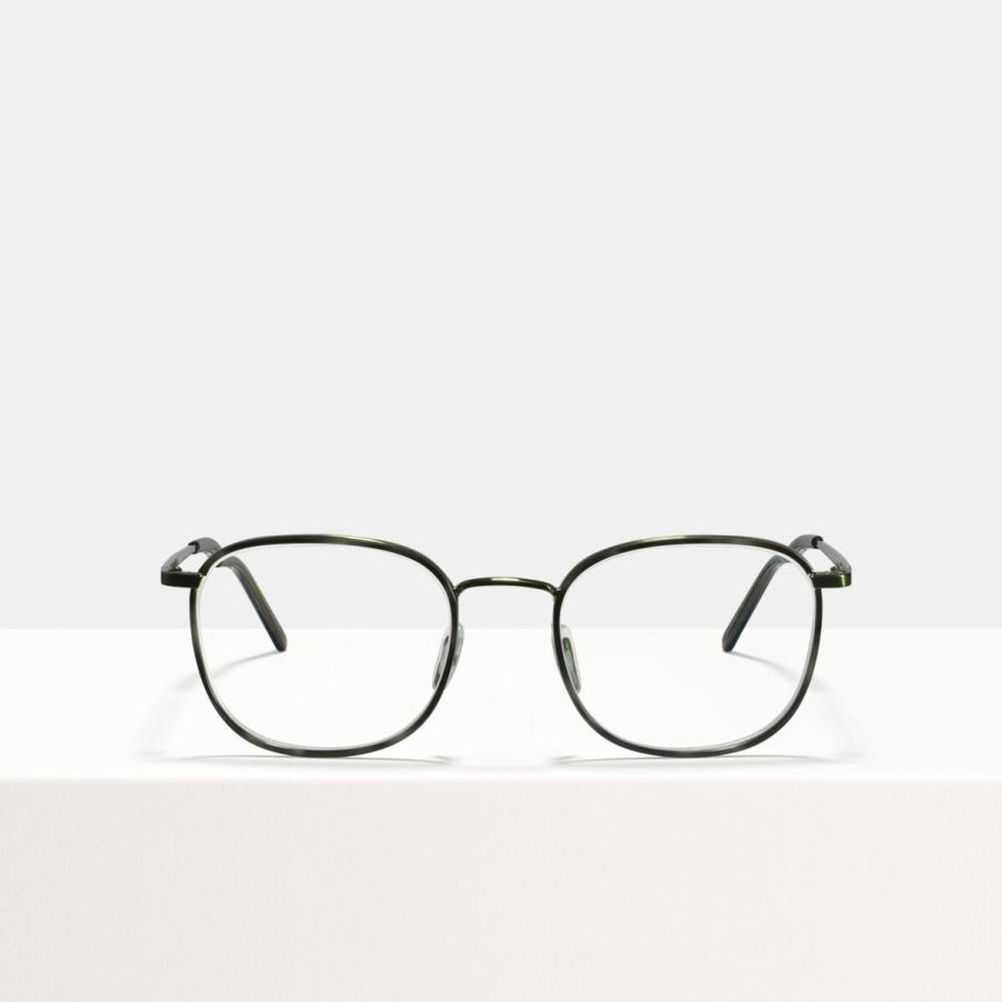 Ace & Tate Glasses | vierkant combi in Beige, Doorzichtig, Groen, Grijs