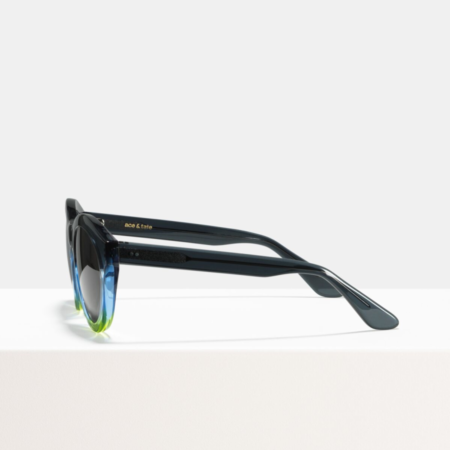 Ace & Tate Sunglasses | round acetate in Blue, Yellow