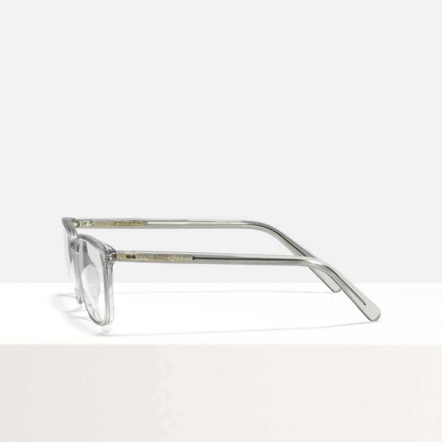 Ace & Tate Glasses | rectangle acetate in Clear, Grey