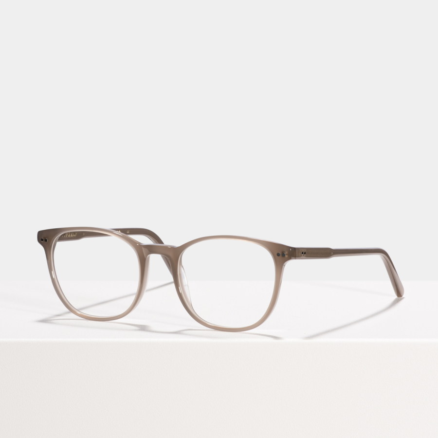 Ace & Tate Glasses | round acetate in Grey