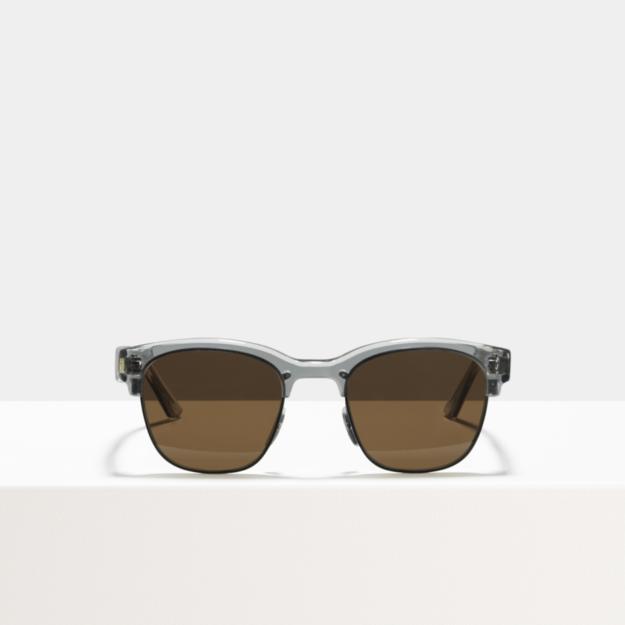 Ace & Tate Sunglasses | square metal in Black, Clear, Grey