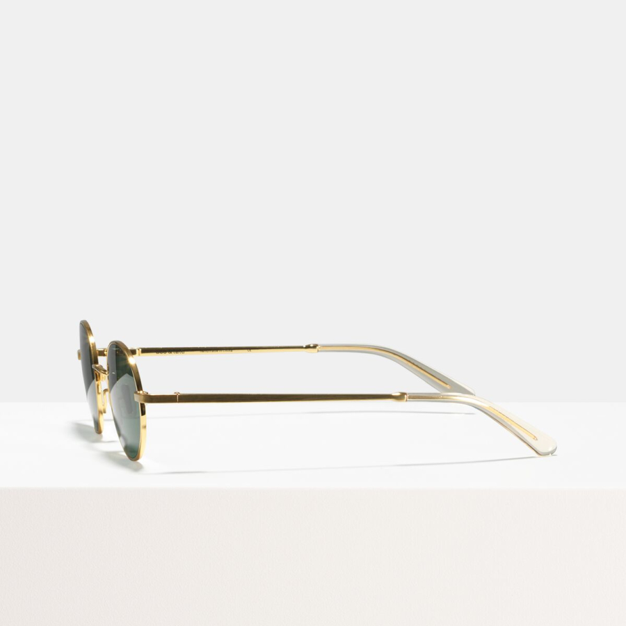 Ace & Tate Sunglasses | round metal in Gold