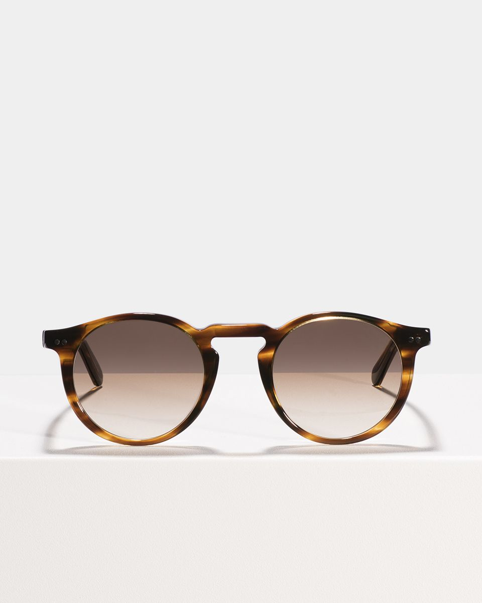 Benjamin rund Acetat glasses in Tiger Wood by Ace & Tate