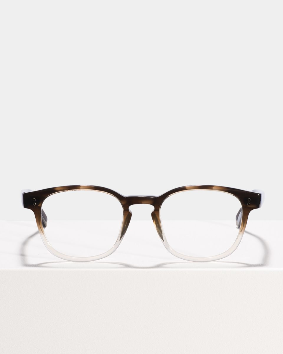 Alfred quadratisch Acetat glasses in Espresso Gradient by Ace & Tate