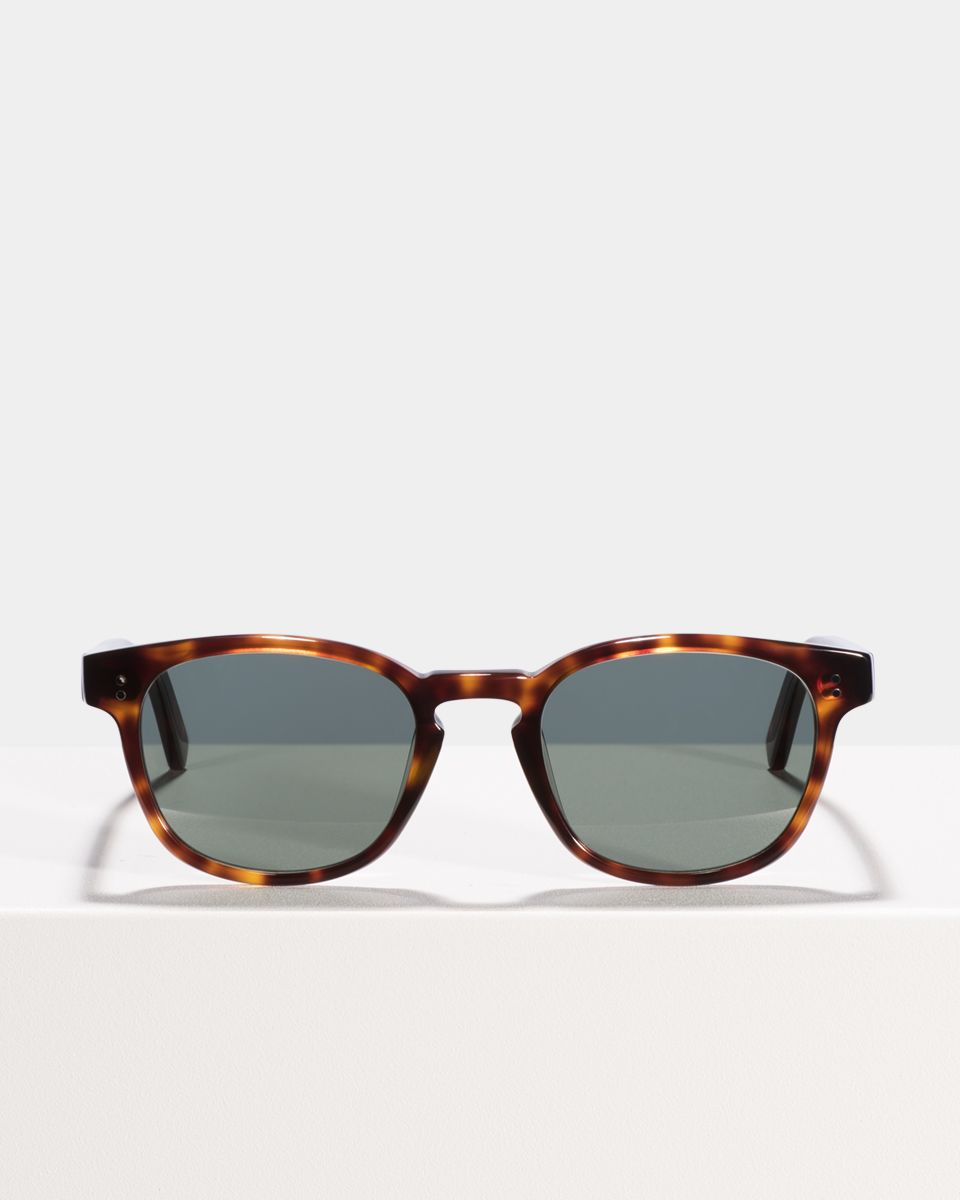 Alfred vierkant acetaat glasses in Hazelnut Tortoise by Ace & Tate