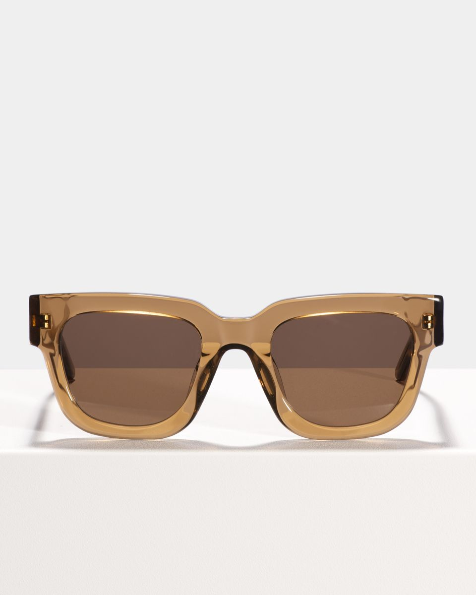 Allen rund Acetat glasses in Golden Brown by Ace & Tate