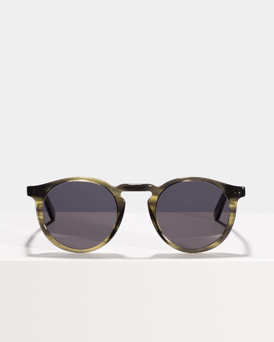 Benjamin rondes bio acetate glasses in Botanical Haze by Ace & Tate