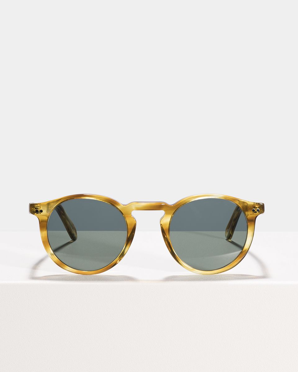 Benjamin round acetate glasses in Caramel Havana by Ace & Tate