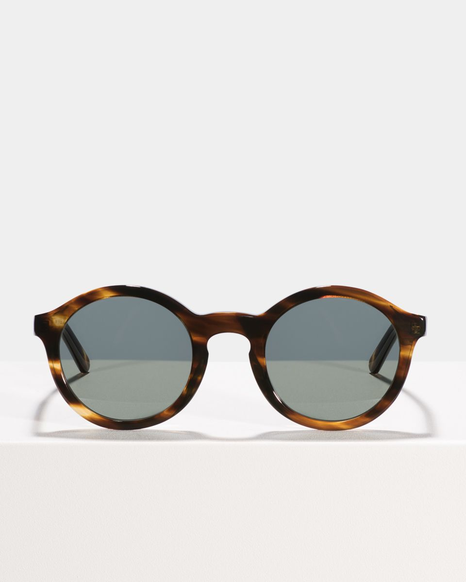 Colin rund Acetat glasses in Tiger Wood by Ace & Tate