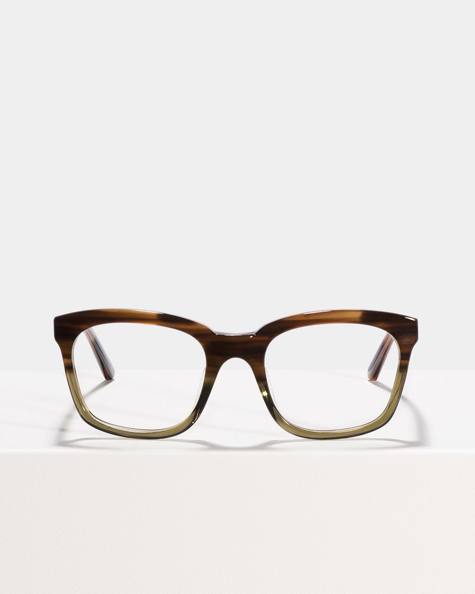 David square acetate glasses in Hunter Green by Ace & Tate