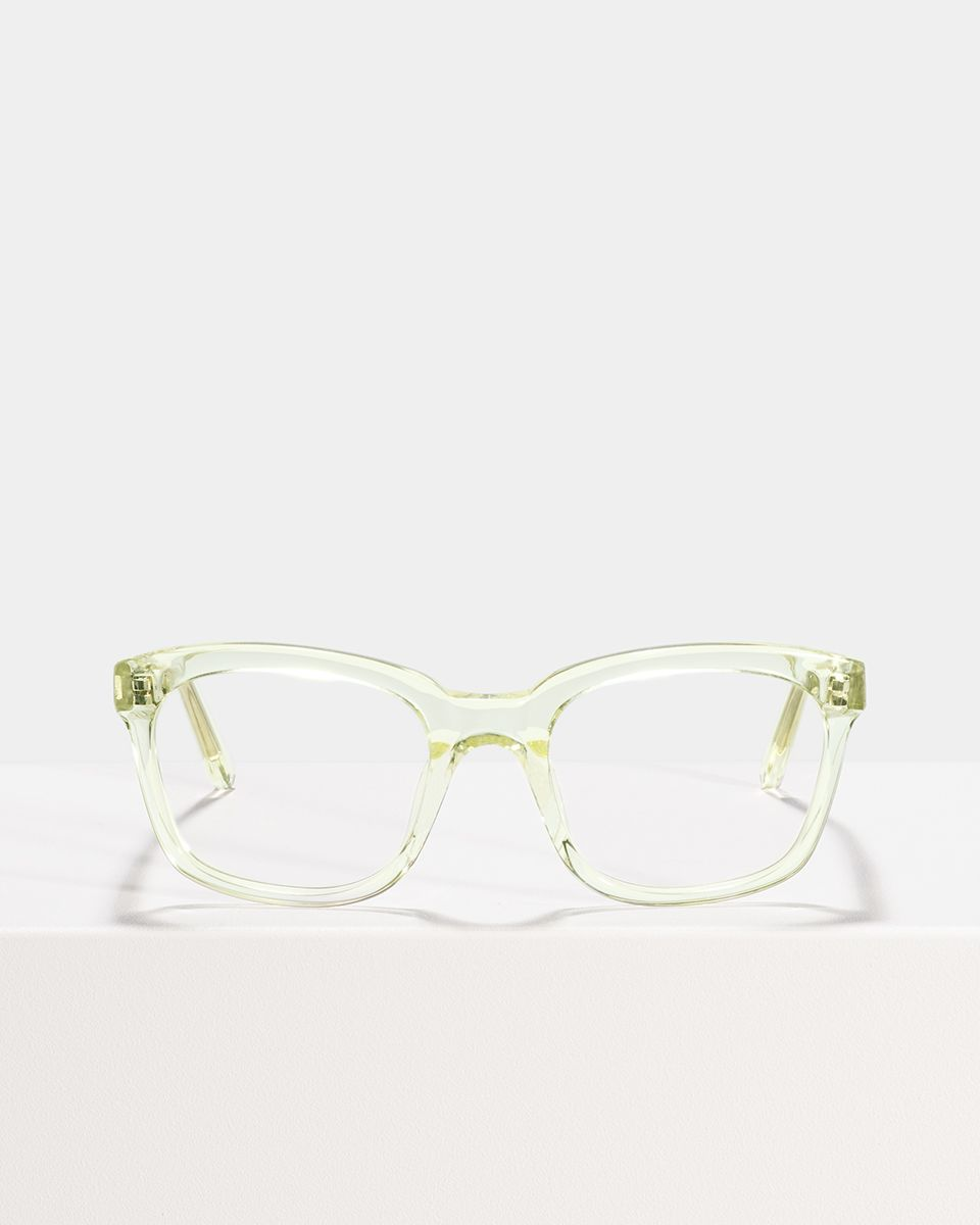 David vierkant acetaat glasses in Lime by Ace & Tate