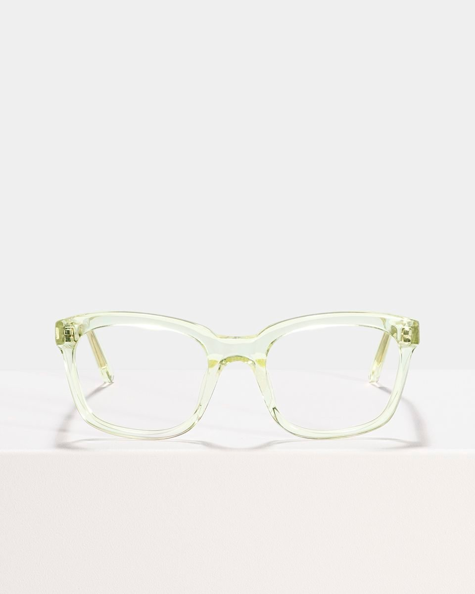 David carrée acétate glasses in Lime by Ace & Tate