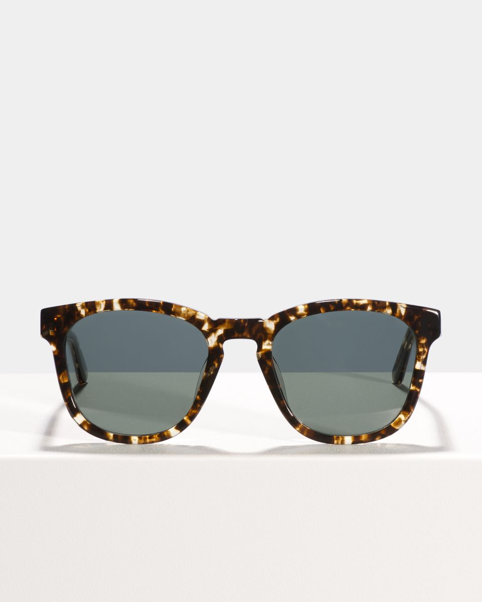 Dexter vierkant acetaat glasses in Chocolate Chip by Ace & Tate