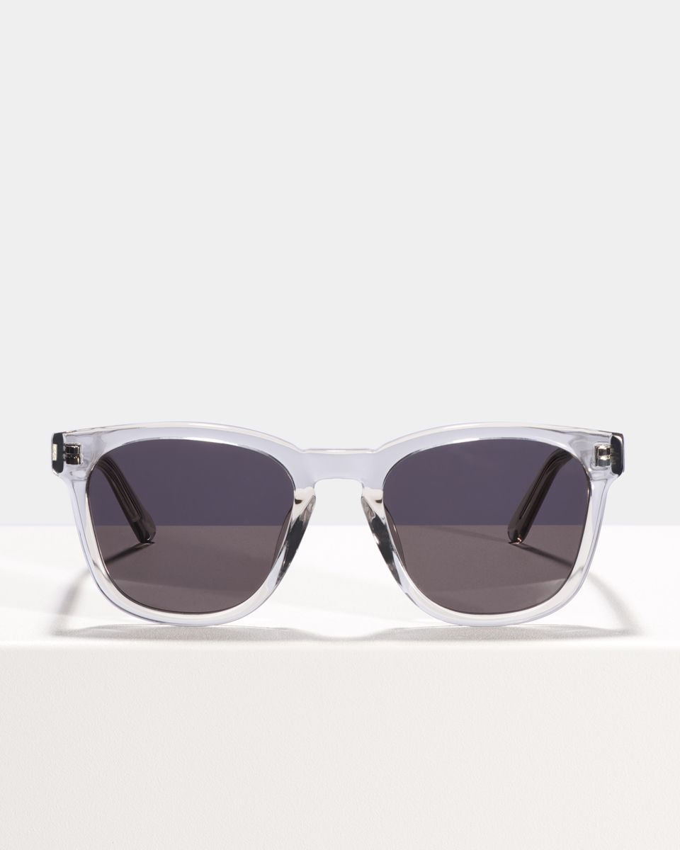 Dexter vierkant acetaat glasses in Smoke by Ace & Tate